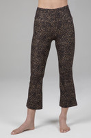 Cropped Flare Perfect Leopard Print