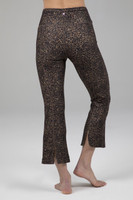 Cropped Flare Perfect Leopard Print Back