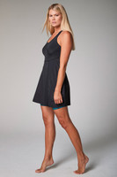 Action Dress with Blue Leopard Shorts underneath