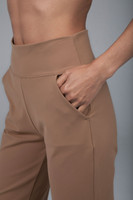 Comfortable Camel Flare Pant Pockets