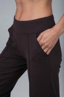 Wide leg brown yoga pant