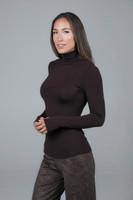 Brown Long Sleeve Turtleneck