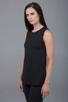 sleeveless long-length yoga tunic
