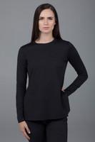 Split Side Long Sleeve Tunic Black