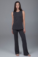 Slim Bootcut Pant and Audrey Tunic in Charcoal Heather