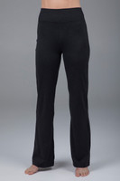 Slim bootcut black yoga pant