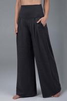 Heather gray pleated dress pants
