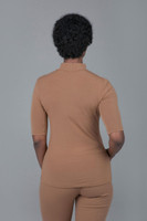 Short Sleeve Yoga Mock neck