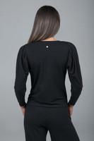 black yoga sweater
