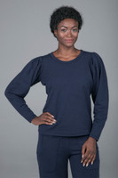Puff Shoulder Pullover (Navy)