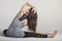 Black Warrior Laser Cut Out Yoga Leggings Outfit Tiffany Cruikshank