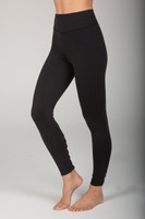 High Waist Black Yoga Leggings with Cutout Lace-Up Detail