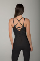 Strappy Criss-Cross Back Tank with Lace Up Detailing back view
