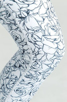 KiraGrace Etched Floral Printed Yoga leggings close up