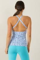 Grace Yoga Halter Top (Riviera Tile print)