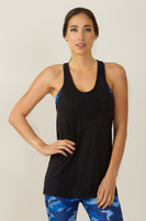 KiraGrace Pocket Racerback Yoga Shirt Black