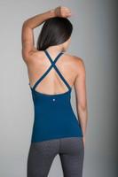 KiraGrace Grace Yoga Halter in Blue Abyss (back detail)