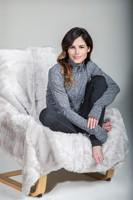 KiraGrace Grace Half Zip Pullover in Grey Heather
