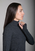 Grace Half Zip Pullover in Charcoal Heather