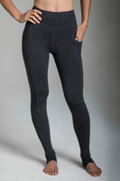 Full- Length Pocket Yoga Tights in Charcoal Heather