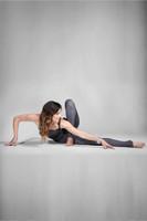 KiraGrace Grace High-Waisted Yoga Legging in Glen Plaid print