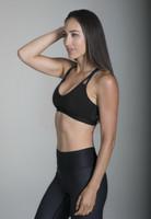 KiraGrace Sevari Yoga Bra in Black