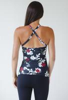 Grace Yoga Halter in Black Beauty Rose