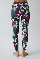 Grace Ultra High Waist 7/8 Yoga Legging (Black Beauty Rose)