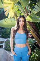 Grace En Pointe Yoga Crop Top (Riviera Blue)
