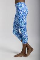 Ultra High Waist Pocket Yoga Capri in Blue St. Lucia Print