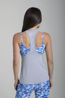 Relaxed Racerback Yoga Tank (Heather Grey)