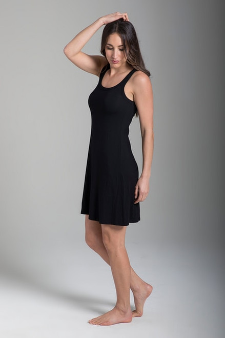 Easy Tank Yoga Dress (Black)