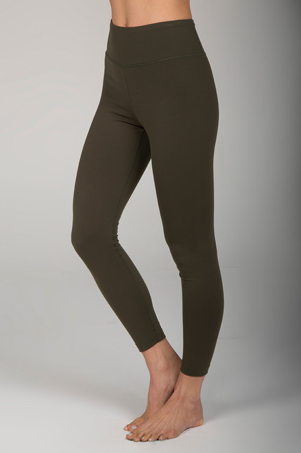 High Waist 7/8 Yoga Legging Forest Night Green