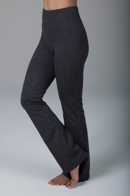 Ultra High Waist Bootcut Yoga Pants in Charcoal Heather