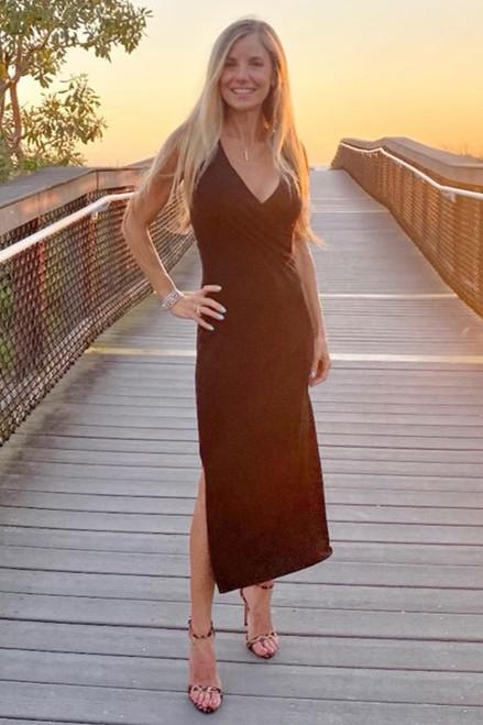 Wrap Dress on Karen Ficarelli