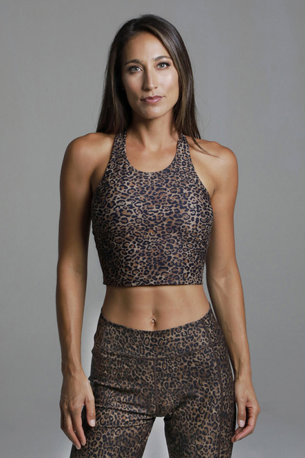 Perfect Leopard Print Vinyasa Yoga Crop Top