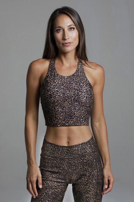Perfect Leopard Print Vinyasa Yoga Crop Top