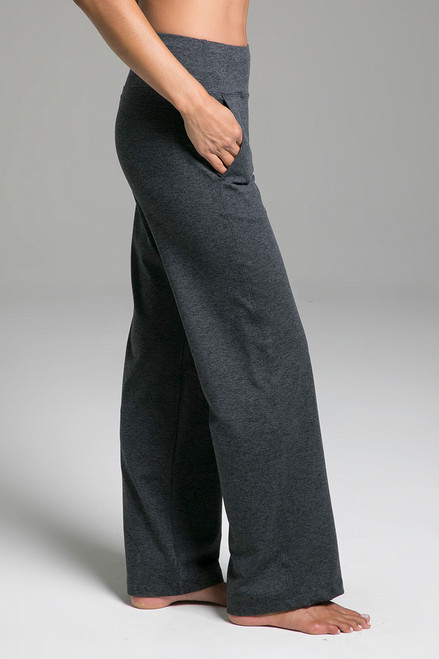 Cozy Traveler Pant (Charcoal Heather) side view with pockets