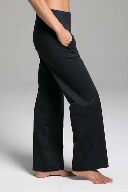 Cozy Traveler Pant (Black Cozy) side view with pockets