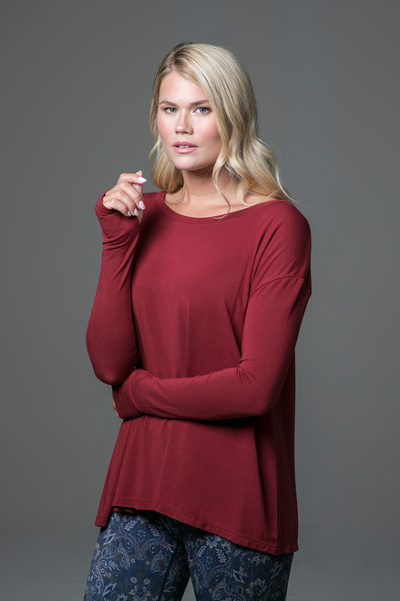 Perfect Long Sleeve Yoga Tee (Sienna) side