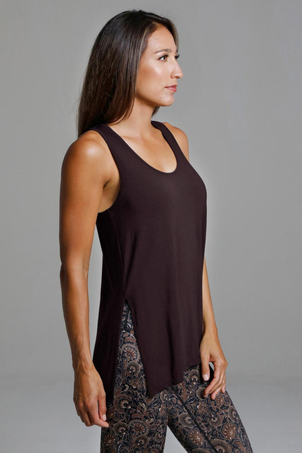 Side split yoga tank ultra-soft fabric