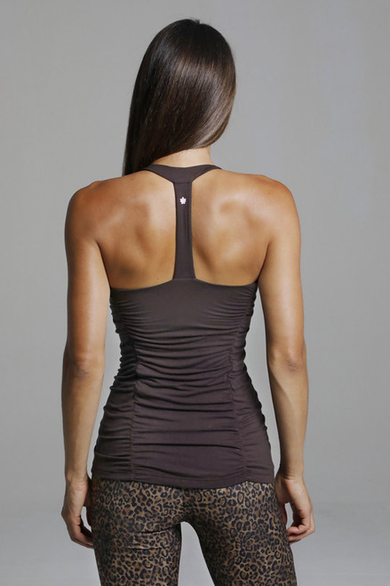 T-Back Yoga Tank Top With Ruche detailing back view