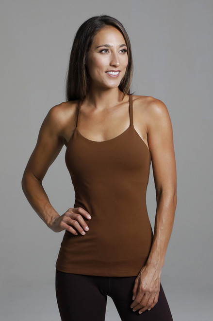 Fall Bronze Spaghetti Strap Yoga Tank Top