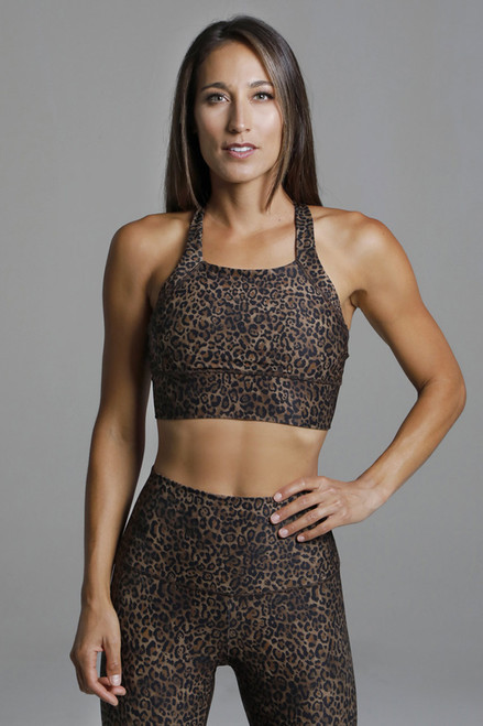 Perfect Leopard Print Supportive Yoga Bra
