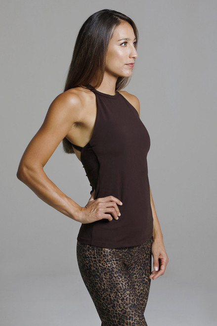 Mahogany Supportive Yoga halter workout top
