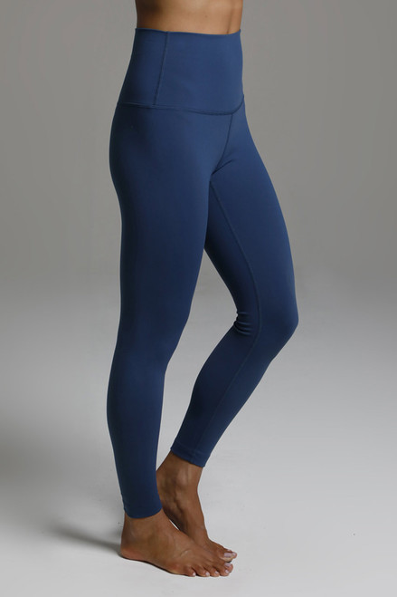 Dark Blue High Waist Yoga Leggings