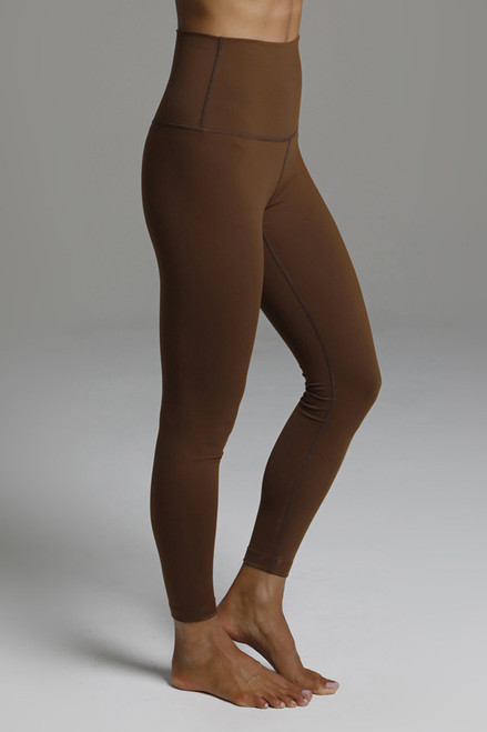 Compressive High Rise Yoga Tights in Bronze