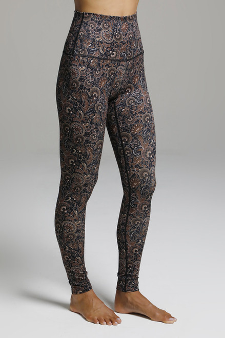 Fall Pattern High Waist Yoga Bottoms