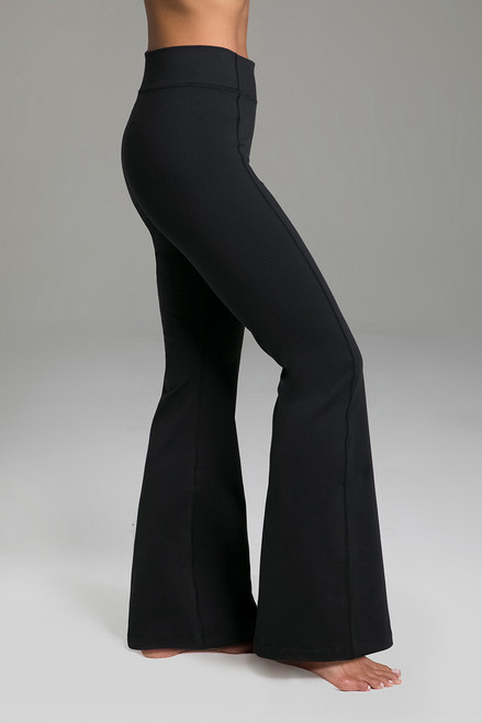 Flattering Bootcut Black Yoga Pants side view
