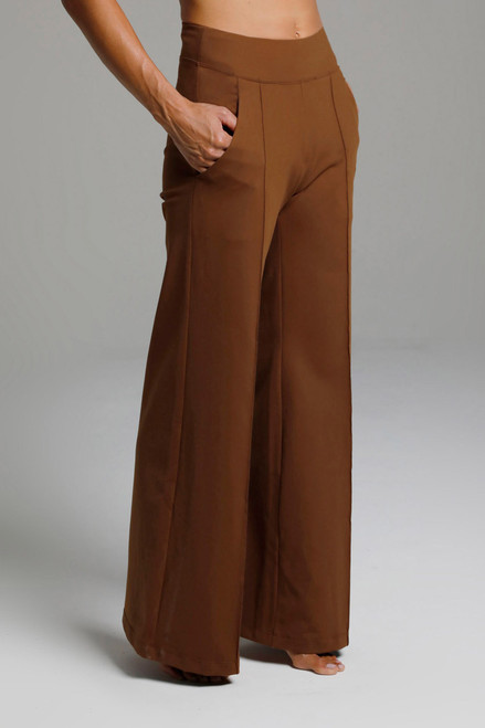Bronze Flared Pocketed Yoga Bottoms